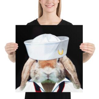 Sailor Rabbit Navy - 18x18 by Pablo Prada
