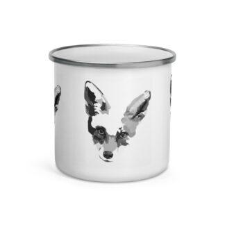 Enamel Fox Mug by Pablo Prada (B&W)